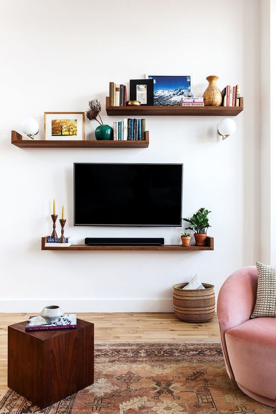 TV aan de muur TV meubel