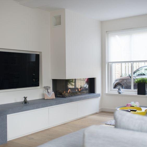 Ideeën voor het ophangen van de TV aan de muur | Wooninspiratie