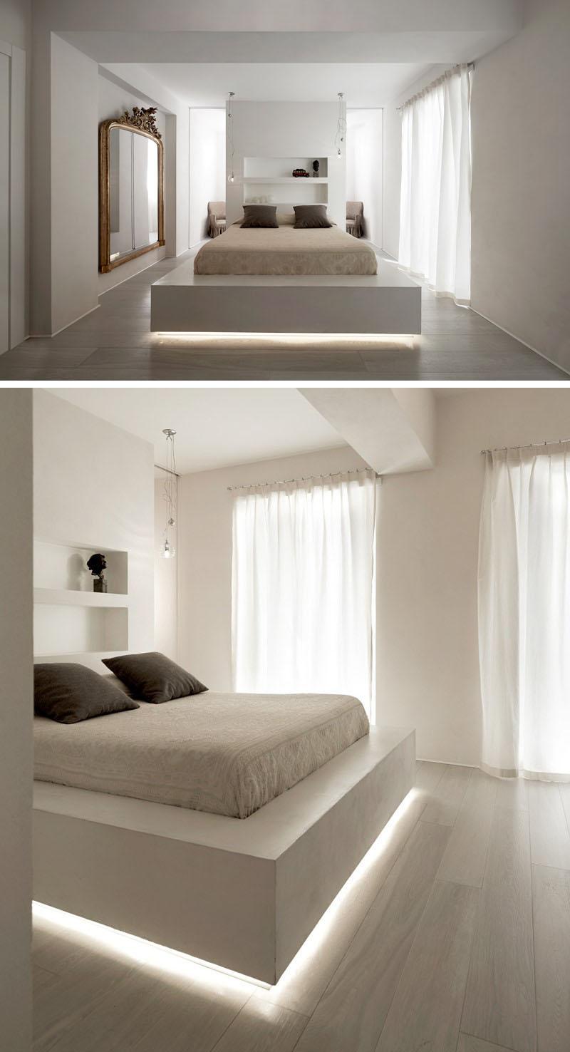 verlichting onder bed zwevend bed