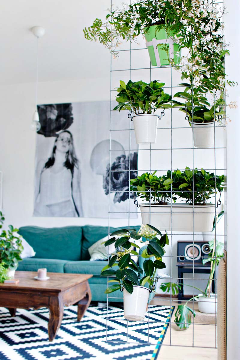 verticale tuin roomdivider