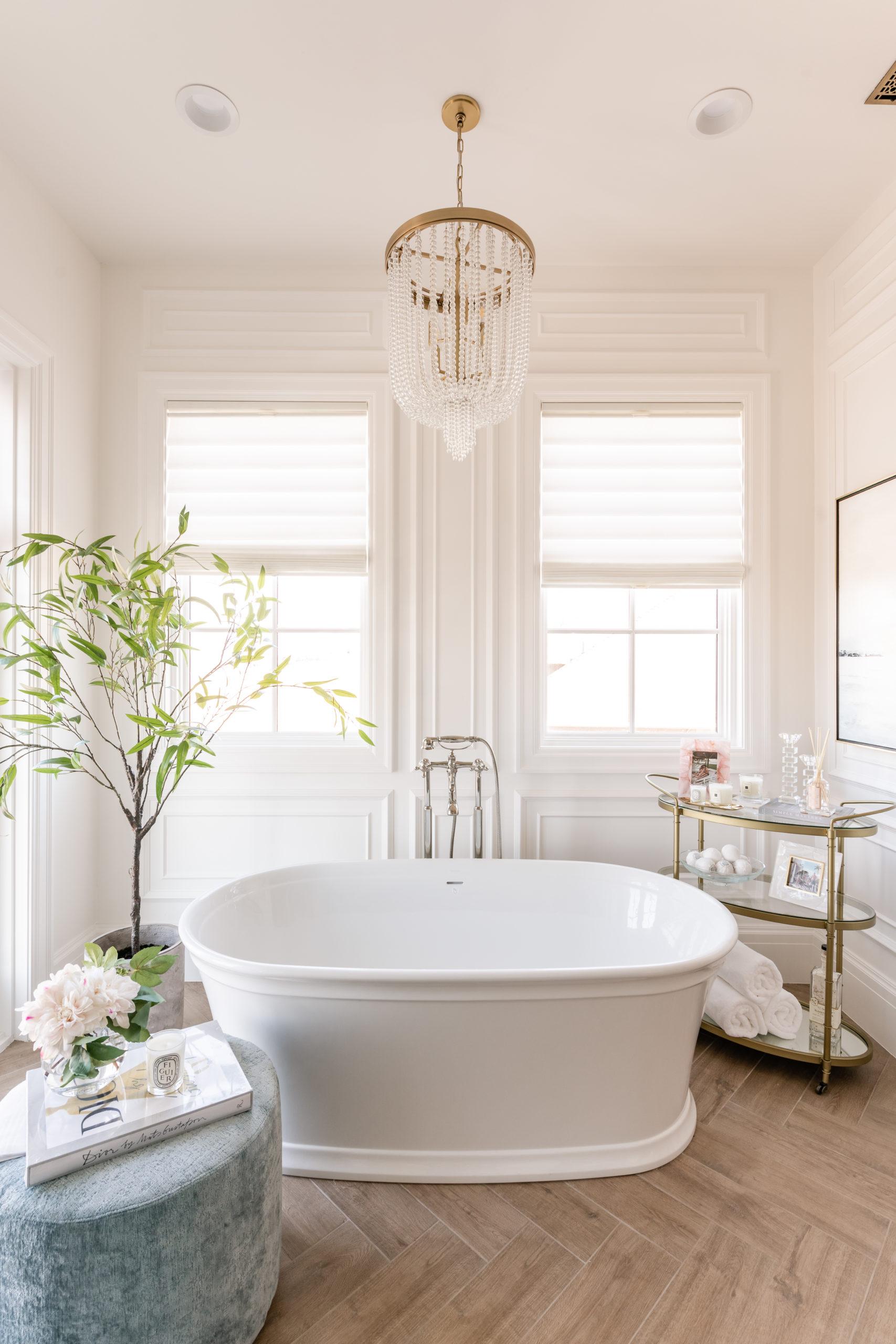 visgraat vloer luxe badkamer
