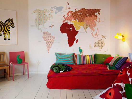 Kinderkamer met vrolijke kleuren wooninspiratie - Kinderkamer kleur ...