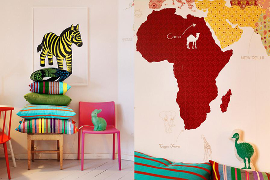 Kinderkamer met vrolijke kleuren  Wooninspiratie