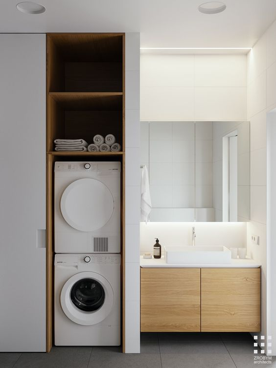 Wasmachine kast inspiratie