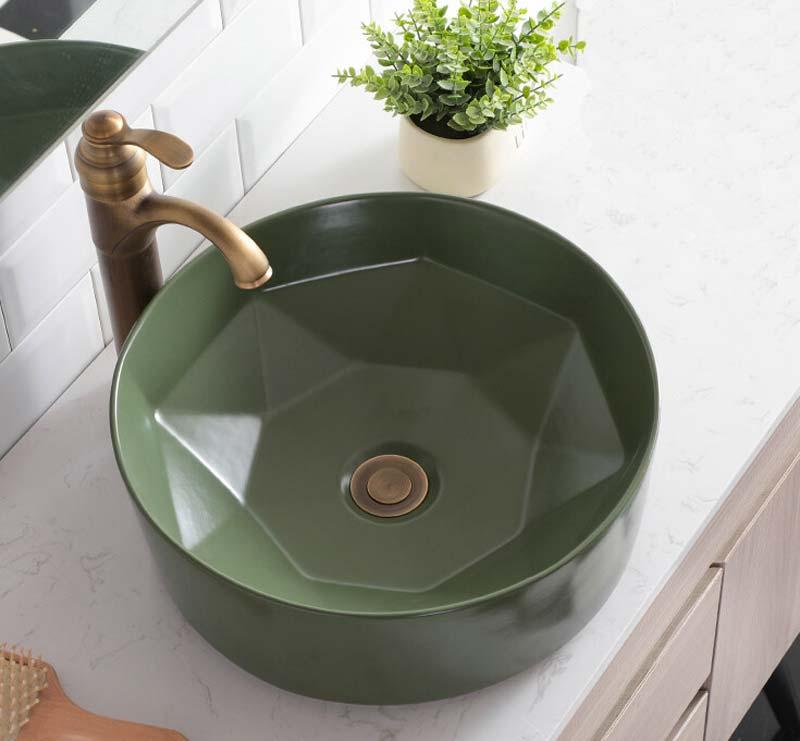 wastafels badkamer groene waskom