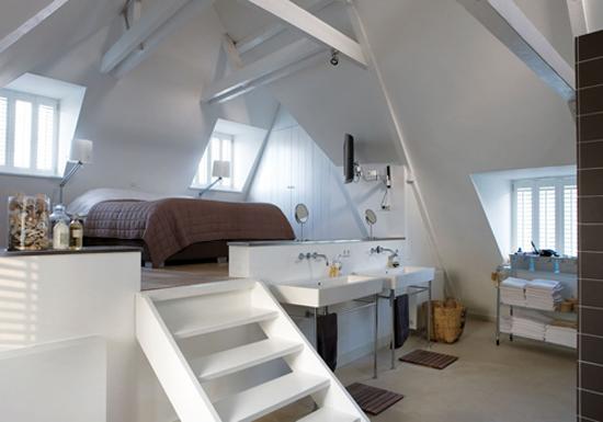 Ouderwetse Keuken Gordijnen : Farmhouse Attic Loft Bedrooms