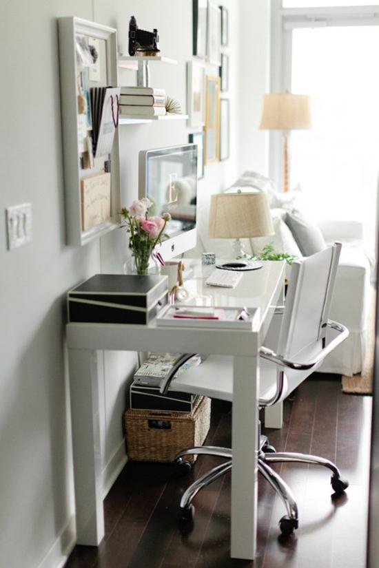Kleine werkplek in huis