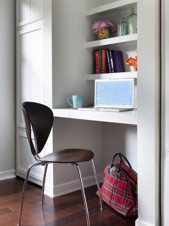 Kleine werkplek in huis wooninspiratie - Home interior design for small spaces ...