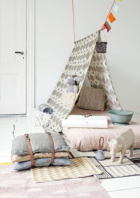 wigwam tent voor in de kinderkamer wooninspiratie. Black Bedroom Furniture Sets. Home Design Ideas