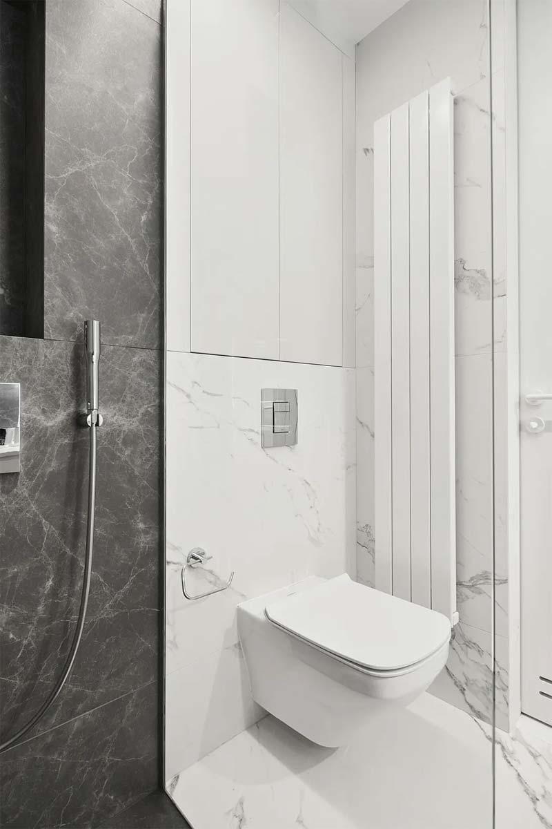 witte grijze marmeren tegels badkamer