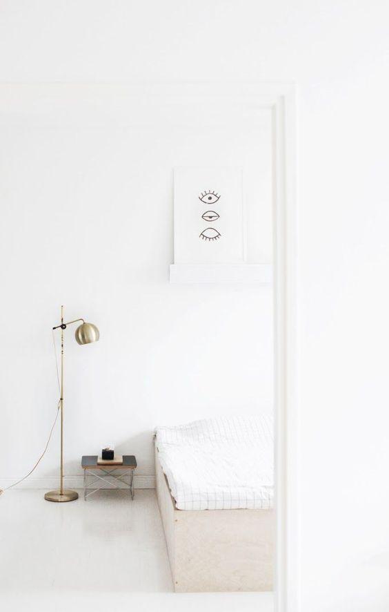 Witte slaapkamer wooninspiratie - Kamer wit design ...