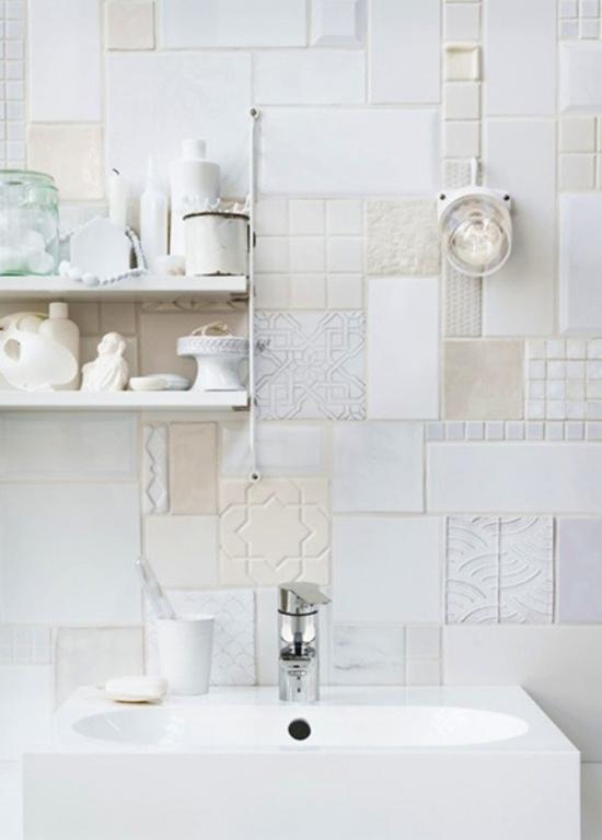 een witte badkamerinrichting | wooninspiratie, Badkamer