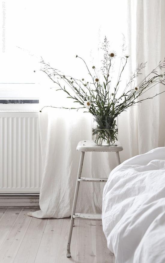 Een witte slaapkamer kan nooit misgaan!