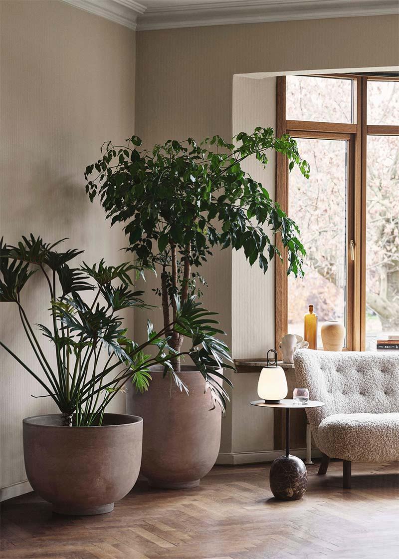 woonkamer inrichten tips planten