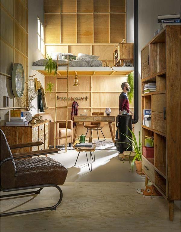 woonkamer inrichten tips stijlvolle houten kast