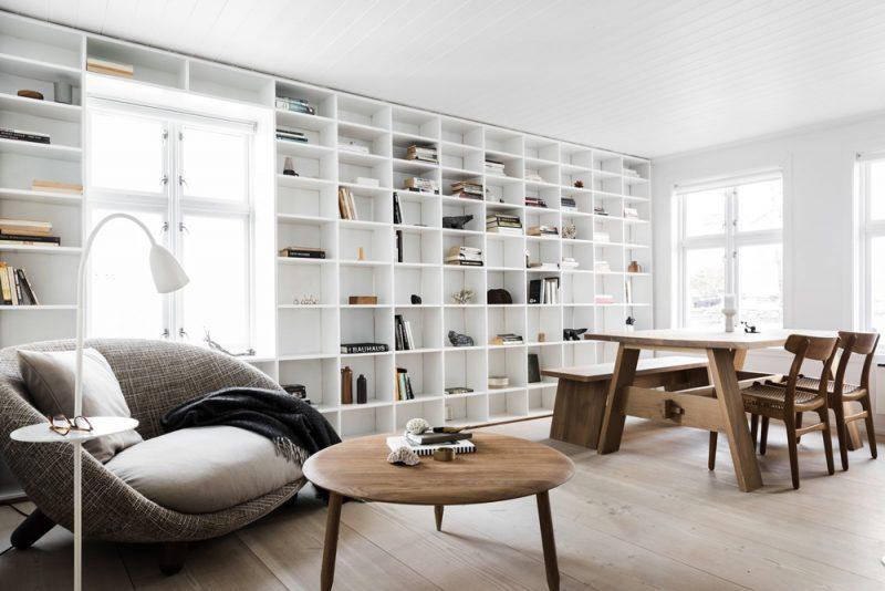 woonkamer inspiratie boekenkast wand