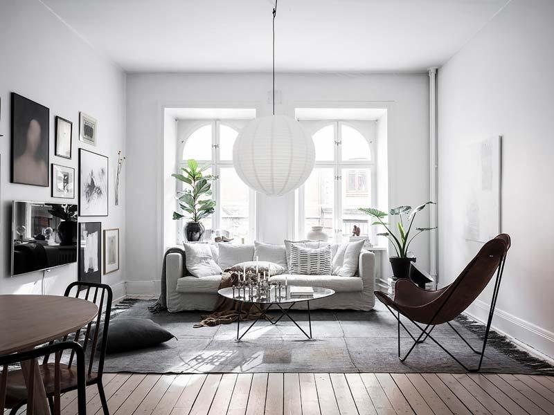 woonkamer inspiratie grote hanglamp