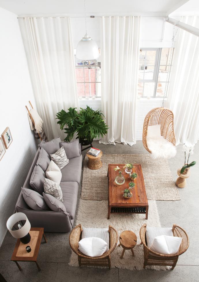 woonkamer inspiratie hangende stoel
