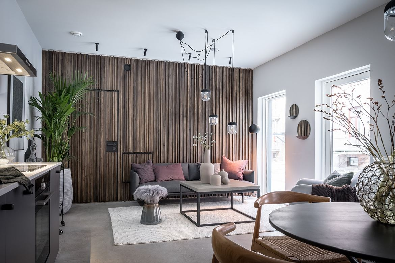 woonkamer inspiratie koel hout