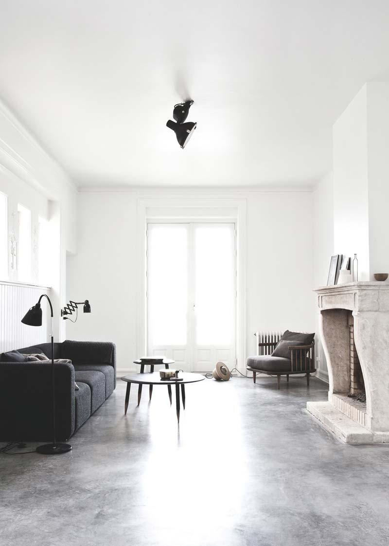 woonkamer inspiratie open haard modern