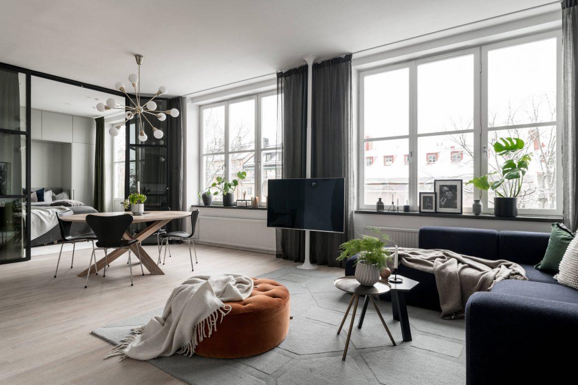 woonkamer inspiratie tv aan paal