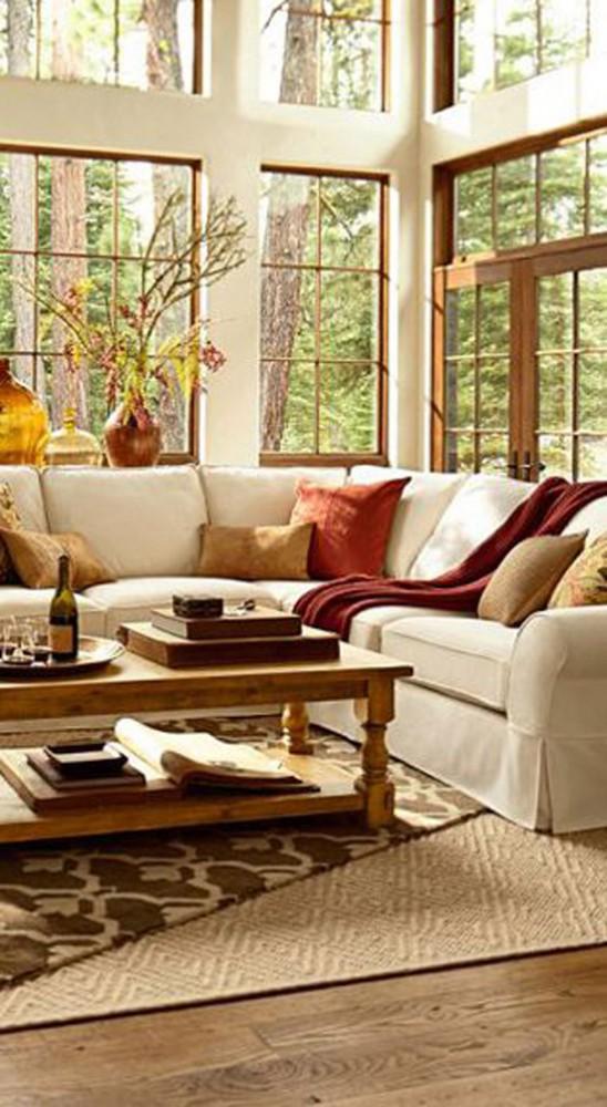 Woonkamer met een herfst sfeer | Wooninspiratie