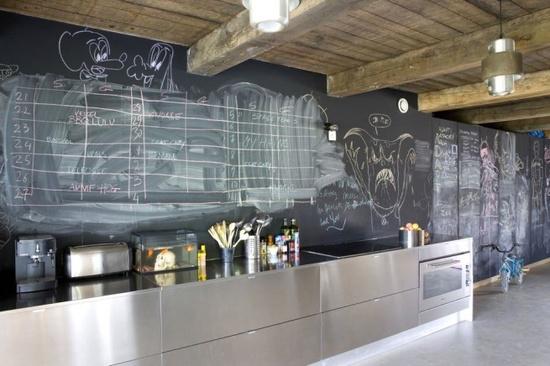 Schoolbordverf De Keuken : Een krijtbord in de keuken inspiratie schoolbordverf