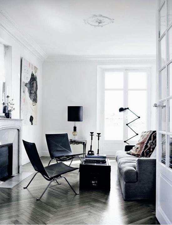 Zwart wit interieur wooninspiratie for Interieur zwart wit