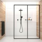 Zwarte details in de badkamer