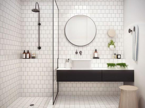 Kraan Badkamer Zwart : Zwarte details in de badkamer wooninspiratie