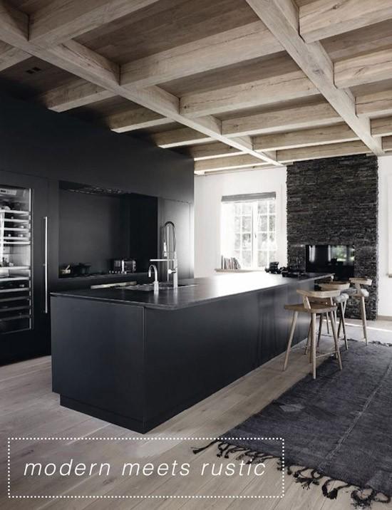 Zwarte Keuken Wooninspiratie