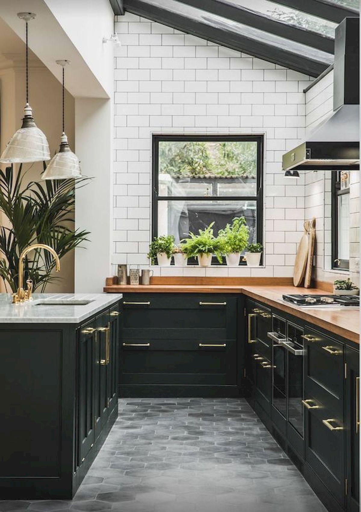zwarte keuken chic landelijk
