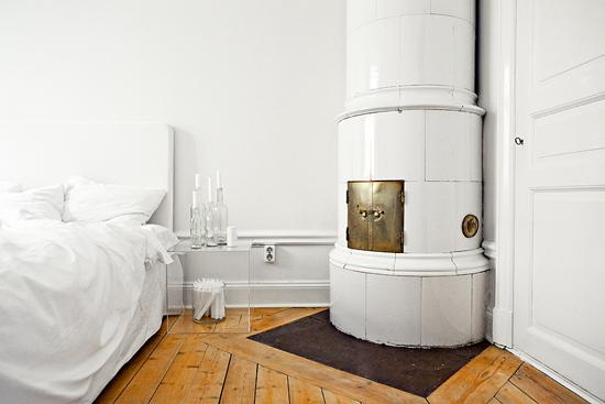 Zweedse slaapkamerinrichting